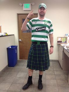 Happy St Patrick's Day! Our warehouse manager showing his Irish roots! #MyACI