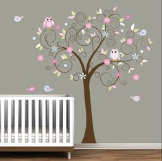 Decal Stickers Vinyl Wall Decals Nursery Tree. $99.00, via Etsy.