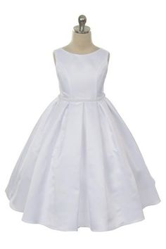 Bridal Satin Dress with pearl Trim at the waist