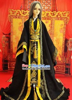 Ancient Chinese Black Hanfu Clothing for Men Corpus Christi
