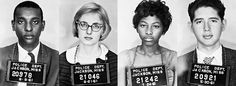 The Mississippi Freedom Riders arrested in Jackson, Miss in 1961. These are the faces of the Civil Rights Movement that are rarely spoken of.  It wasn't just black folks who marched, but Jewish and white american who also spoke out and fought for civil rights. Some went to jail and some died. Lest we all forget the price that was paid for all of us.