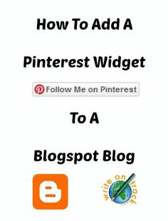 How to add a Pinterest Widget to a blogspot blog This is actually surprisingly tricky to do but easy if you know how :)