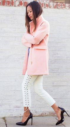 Pink Cocoon Coat     by Song Of style