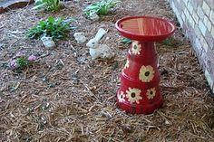 Clay Pot Birdbath