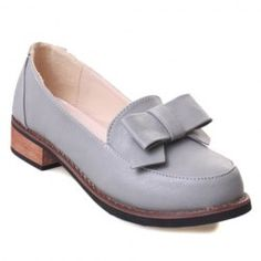 Cute Bowknot and Platform Design Women's Flat Shoes
