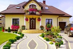 Rain and snow are going to play a huge part in your yard landscaping decisions. For example you will have to plan for your yard landscaping with care. These yard lan Landscape Plans, Landscape Design, Garden Design, House Design, Style At Home, Front Yard Landscaping, Landscaping Ideas, House Goals, Home Fashion