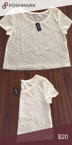 Cute express shirt Cute Express Lace Blouse . Brand new with tags . Express Tops