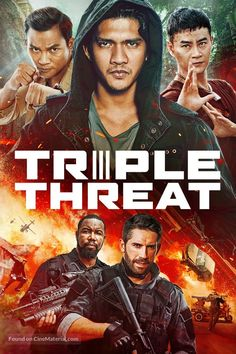Watch Streaming Triple Threat : HD Free Movies A Crime Syndicate Places A Hit On A Billionaire's Daughter, Making Her The Target Of An Elite. Michael Jai White, Tony Jaa, Movies 2019, New Movies, Movies Online, Good Movies, Film Vf, Film Movie, Posters Amazon