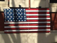 Your place to buy and sell all things handmade Wood Snow Fence, Historic Philadelphia, Red White Blue, American Flag, Repurposed, Indoor, Hand Painted, Picket Fences, Projects