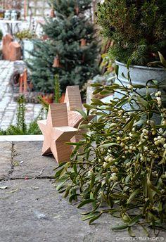 Innenhofdekoration Im Winter, Außendekoration Mit Naturmaterialen,  Dekoration Mit Zink, Shabby