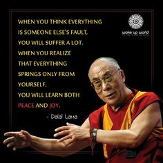 More words of wisdom from the one and only Dalai Lama Meaningful Quotes, Inspirational Quotes, Motivational Quotes, A Course In Miracles, Positive Outlook, Positive Feedback, Positive Thoughts, When You Realize, Truth Hurts