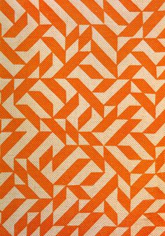Anni Alber's Eclat pattern. Originally designed in 1974 as an upholstery pattern, Anni Albers' Eclat, was first produlced printed on a cotton/ linen ground in various scales and color combinations. Reintroduction into the market as part of Knoll's 60th anniversary archival collection celebration in June 2007, Eclat, renamed Eclat Weave, is now produced as a woven, rather than printed, upholstery.
