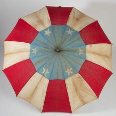 """AMERICAN FLAG PARASOL Circa 1876-1900. 35"""" L."""