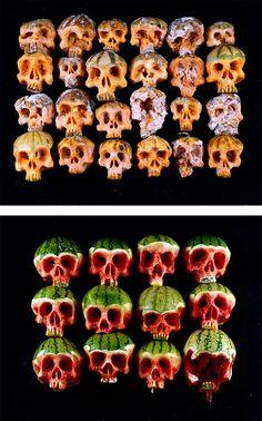 Fruit and Vegetable Skulls by Dimitri Tsykalov | Inspiration Grid | Design Inspiration