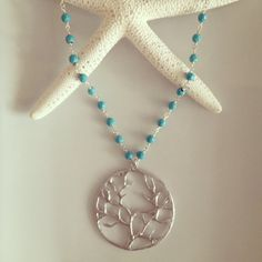 Turquoise Tree of Life Necklace by TheArtsyNomad on Etsy