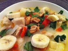 Coconut Curry Chicken Soup. Easy, easy, easy. - Enjoyed the soup - didn't add the banana though.