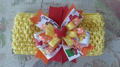Yellow Headbands, Sesame Street Inspired Headbands, Crochet Headbands, Baby Headbands, Girl Headbands, Newborn Headbands - pinned by pin4etsy.com