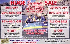 Boulder Army Store's Huge Summer Sale!