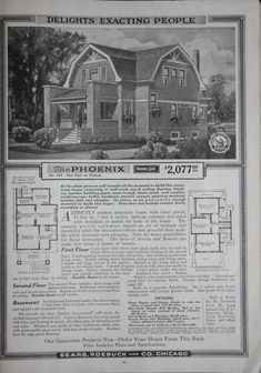 "Sears ""Honor Bilt"" Modern Homes - 1918 - Phoenix archive.org Slate Board, Stucco Exterior, Vintage House Plans, Dutch Colonial, Field Guide, Kit Homes, Modern Homes, Historic Homes, Phoenix"
