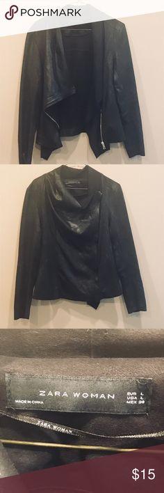 Black waterfall jacket Black lightweight waterfall jacket from Zara. Great condition, barely worn. More of a sweater/blazer consistency than a jacket. Zara Jackets & Coats