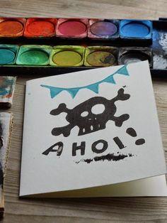 DIY Einladungen Piratenparty---Kids Birthday Party Pirate Theme Invitations  http://ernestka.blogspot.de/2014/06/piraten-party.html