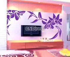 $6.53 Nixiang Wall Stickers For Home TV Background Wall Art DIY Purple Hot