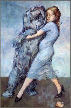 Dorothea Tanning - Valse Bleue (The Blue Waltz) 1954 Max Ernst, Blue Painting, Figure Painting, Painting & Drawing, Guernica, Magritte, Dorothea Tanning, Beaux Arts Paris, Atelier D Art