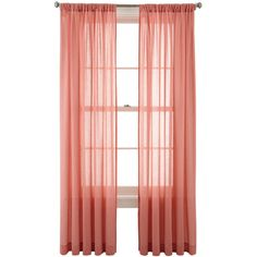 MarthaWindow™ Flutter Rod-Pocket Sheer Panel ($14) ❤ liked on Polyvore featuring home, home decor, window treatments, curtains, martha stewart window treatments, martha stewart curtains, pole top curtains, sheer panels and rod pocket curtains