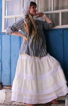"""Купить Юбка льняная пышная """"Зефир"""" - белый, однотонный, юбка, юбка длинная, бохо…"""