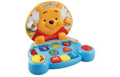 vtech Winnie the Pooh Play and Learn Laptop Join Winnie the Pooh and friends on a learning adventure 3D Pooh Piglet Roo and Tigger character http://www.comparestoreprices.co.uk/educational-toys/vtech-winnie-the-pooh-play-and-learn-laptop.asp