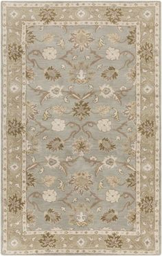 Surya CAE-1126 Caesar Hand Tufted Wool Rug Gray 6 x 9 Oval Home Decor Rugs Rugs