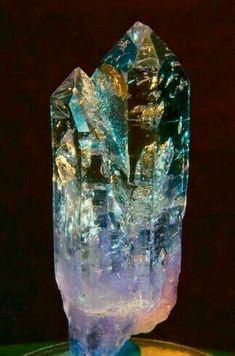 Quartz - Multi-Color - Minerals, Crystals, Gemstones, Natural Formations with copper ! Minerals And Gemstones, Rocks And Minerals, Raw Gemstones, Natural Gemstones, Natural Crystals, Stones And Crystals, Gem Stones, Cristal Art, Crystal Magic