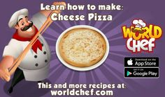 App Store, Google Play, World Chef, Ham Pizza, Pasta With Meat Sauce, Cooking Games, Clean Recipes, Queso, A Table