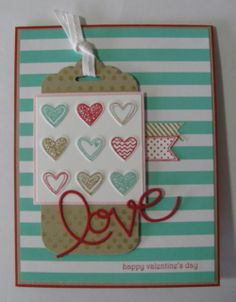 2014 Valentine Card.  This is my card design from the demo site, Stampin' Connection