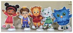 Daniel Tigers Neighborhood Centerpieces, Daniel Tigers Neighborhood Birthday Party Daniel Tigers Neighborhood Centerpieces are a fun way for decorate any Candy Table or Table Centerpiece at your kid Birthday Party. The Centerpiece are print Hi Res /DPI on quality Cardstock paper,