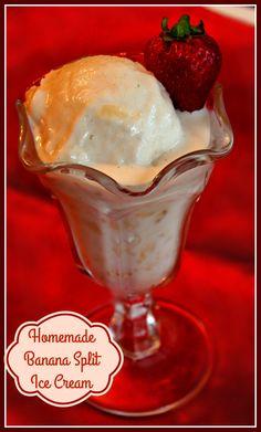 Sweet Tea and Cornbread: Homemade Banana Split Ice Cream!