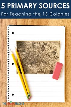 Use these 5 primary sources to create fun 13 Colonies lessons, activities and projects for your kids! These photos and documents will help bring history to life in your classroom. 7th Grade Social Studies, Social Studies Projects, Social Studies Notebook, Teaching Social Studies, Middle School Us History, 8th Grade History, Teaching Us History, History Education, Teaching Tools