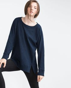 Image 3 of T-SHIRT WITH SIDE OPENINGS from Zara