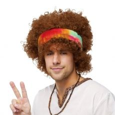 peluca hippie afro para adulto Pelucas 3841222baea