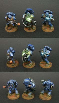 40k - Ultramarines Space Marines by Grigory