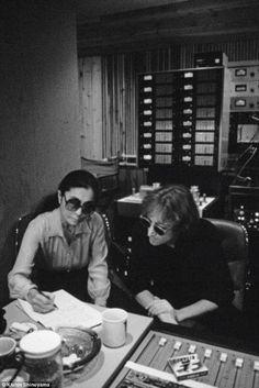 John lennon & Yoko Ono :     The Double Fantasy Sessions. c. Oct/Nov 1980       Photos by Kishin Shinoyama