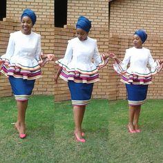 Pedi Traditional Attire, Sepedi Traditional Dresses, South African Traditional Dresses, Traditional Fashion, African Fashion Skirts, African Print Dresses, African Print Fashion, African Prints, African Dress