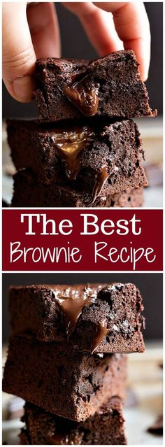 Making brownies from scratch is very easy and once you try our easy brownie recipe, you'll never go back to boxed ones! These chewy brownies are so easy to make and they're so gooey and fudgy. Truly the best brownies ever! Quick Brownie Recipe, Quick Easy Brownies, Brownie Recipe With Cocoa, Boxed Brownie Recipes, How To Make Brownies, Making Brownies, Gooey Brownies, Homemade Brownies, Best Brownies