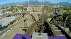Coaster front seat on-ride HD POV Playland at the PNE