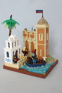 Kaliphlin Port | by jsnyder002 Lego Indiana Jones, Bright Color Schemes, Lego Castle, Lego Room, Lego Architecture, Lego Models, Everything Is Awesome, Lego Stuff, Fortification