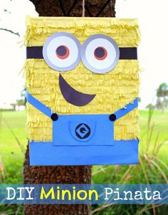 DIY Minion Pinata   Great ready for the new Minions Movie with this easy DIY Minions Pinata! Frugal party idea (ad)