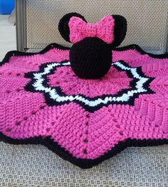 Crochet Minnie Mouse Lovely/Security Blanket by DaisyMaesBoutique331 on Etsy