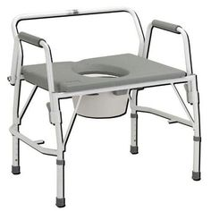 `Bariatric Drop-Arm Commode Deluxe