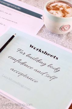 Free worksheets for building body confidence and self acceptance , a great self-help tool ! #freebee #selfhelp #bodypositive
