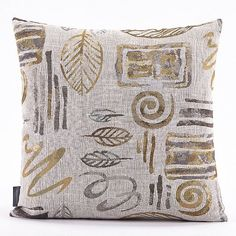 Amazon.com: Puredown Pillow and Case Throw pillow cases Sofa Pillow Covers Jacquard Leaf Square 18X18 Inch Multicolor: Home & Kitchen